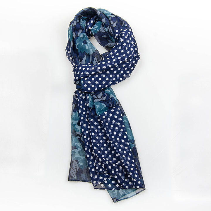 Šály  Passerini Am šála Floral Blue hedvábná dámská letní šála a109b77e08