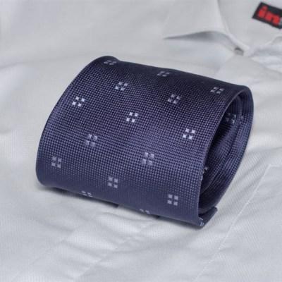 Rosini Orso Dark-blue pánská hedvábná kravata se vzorkem 9ef5da824f