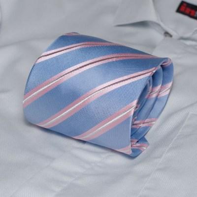 Rosini Palmiro Blue pánská hedvábná kravata s proužkem 5d127062ef