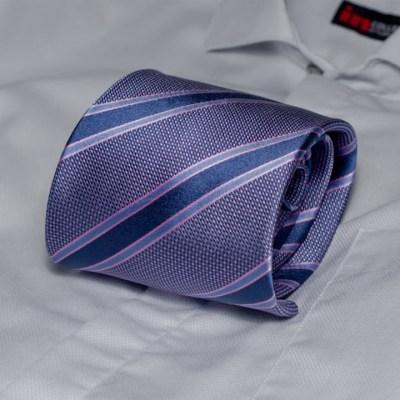 Rosini Paolo Dark-blue pánská hedvábná kravata s proužkem e71d2b9244